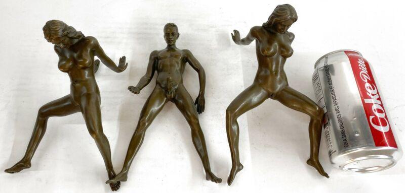 Collector Edition Moment Of Heat Power Dual Bronze Sculpture Figure Sex Sexual
