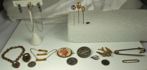 Victorian/1900s Jewelry Lot ESSEX ROCK CRYSTAL Gate LOCK Bracelet AMETHYST Photo