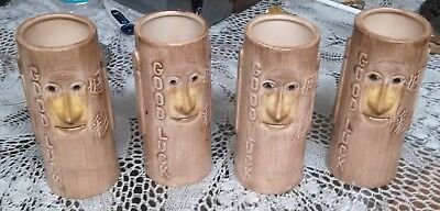 1 Vintage Hawaiian Village Tampa Florida Good Luck Face Tiki Mugs 4 available