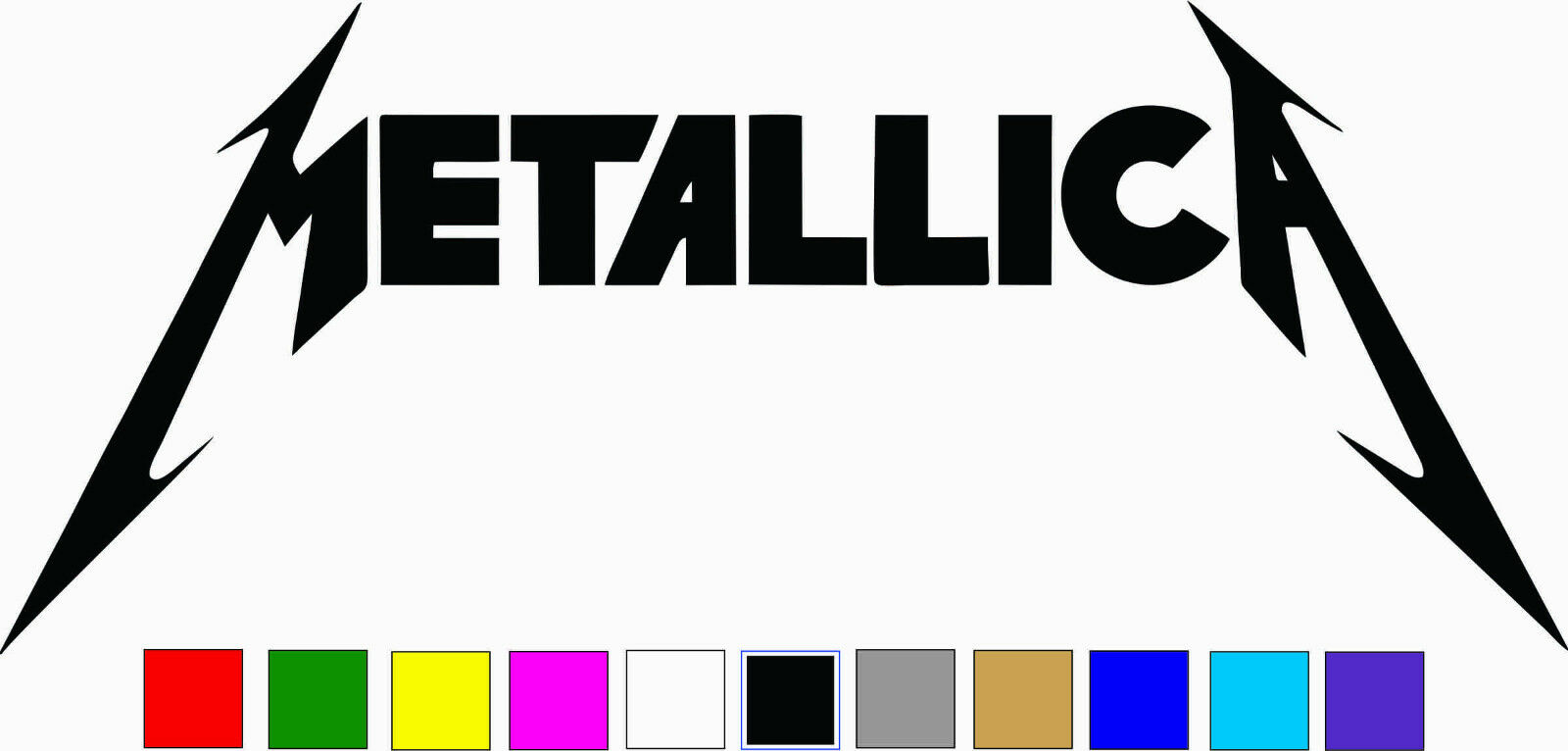 Home Decoration - METALLICA Logo Vinyl Decal Sticker Die Cut Rock Band