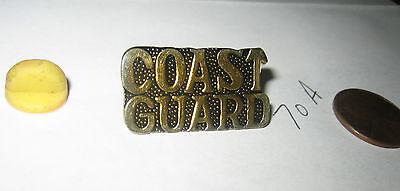 Coast Guard Gold TONE Pin Military Jacket Hat Lapel BADGE