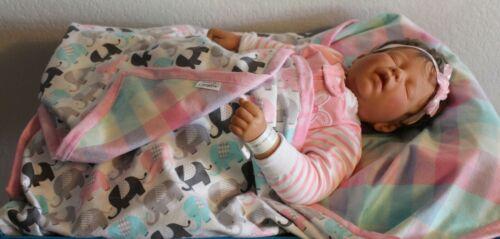 Handmade, double flannel, reversible, girl, baby, toddler, quilt, blanket, gift
