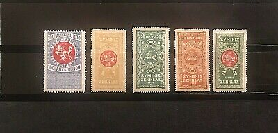 STAMPS LITHUANIA 1930+ FISCAL REVENUE Different 5 Mint #01728