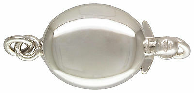 Sterling Silver .925 Oval Box Clasp. 8mm x 10mm. 1 Piece. ~79R2~