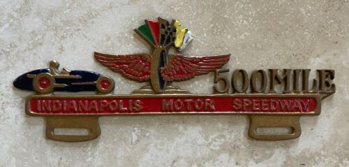 Indianapolis 500 Mile Motor Speedway License Plate Topper
