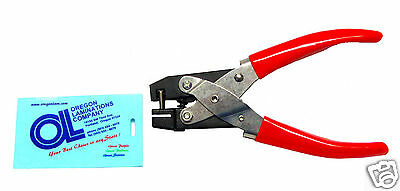 Heavy Duty Badge Slot Hole Punch Hand Held For Id Cards New