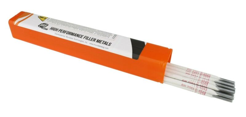 "SÜA - Aluminum E4043 Stick Electrode Rod 5/32"" x 14"" - (0.5 Lb = 11 Rods)"