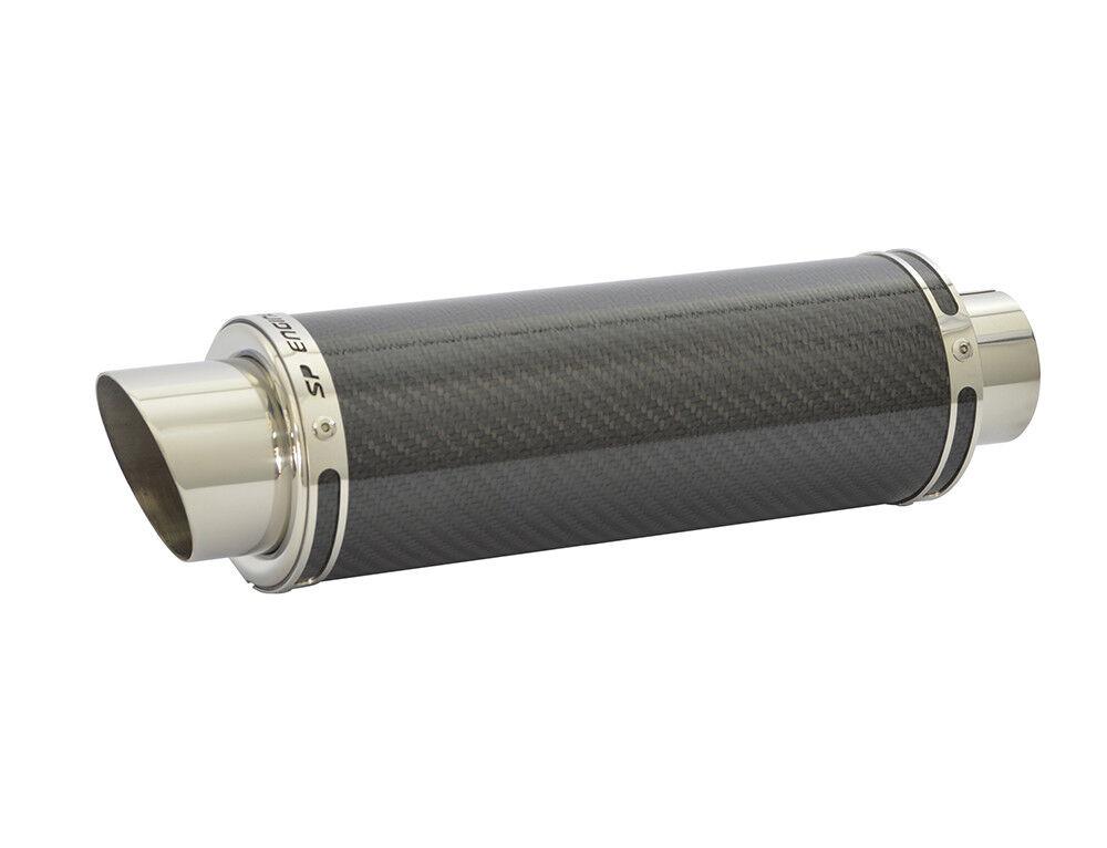 """Honda CB500F Stubby 14/"""" Carbon Fiber Oval Exhaust Muffler Slip-on 13 14 15"""