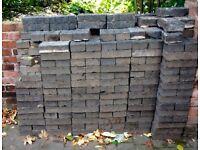 Reclaimed Victorian Brick Pavers Blue Grey (363 plus halves)