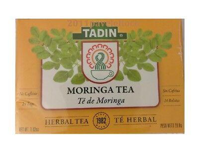 Tadin Moringa Tea   Te De Moringa 24 Bags  28 8G