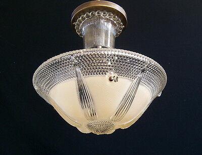 Vintage Flush Mount Ceiling Light Fixture !!! Beautiful !!!
