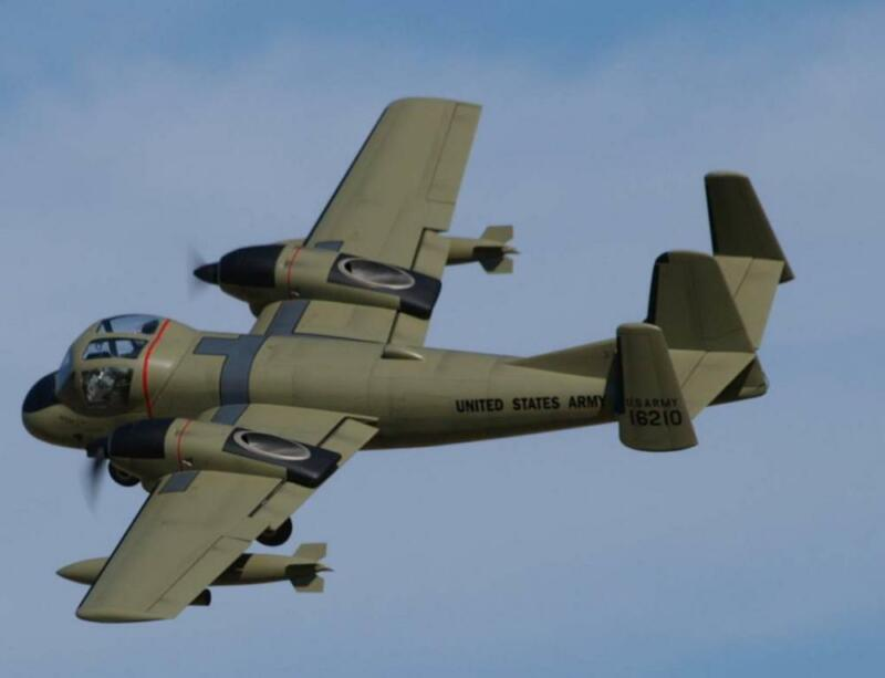 1/9 Scale Grumman OV-1 Mohawk Plans, Templates and Instructions 59ws
