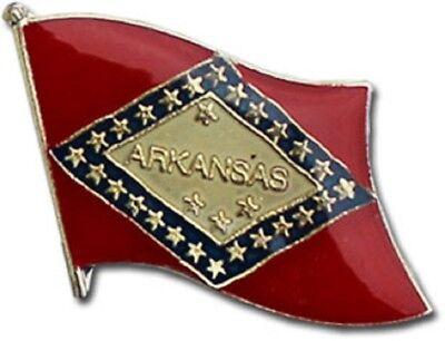 Wholesale Pack of 50 State of Arkansas AR Flag Bike Hat Cap lapel Pin