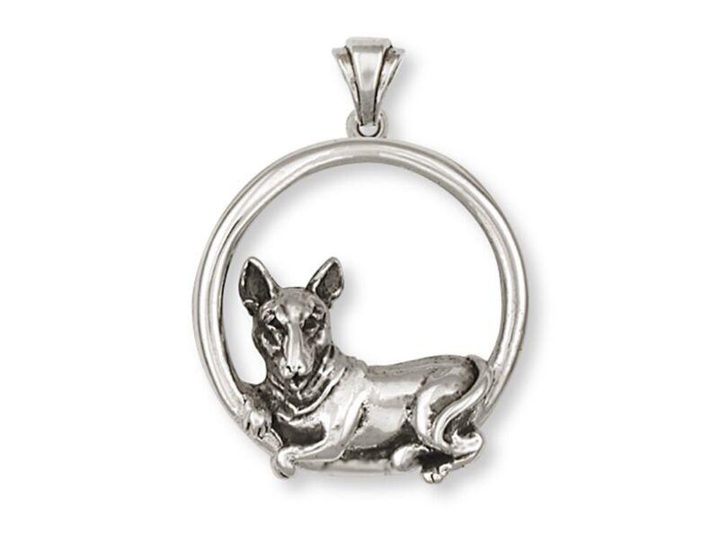 Bull Terrier Pendant Handmade Sterling Silver Dog Jewelry BU2-P