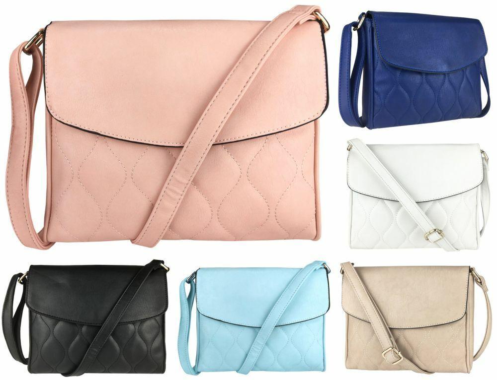 Damen Handtasche Damentasche Schultertasche Umhängetasche Crossover Gesteppt 117