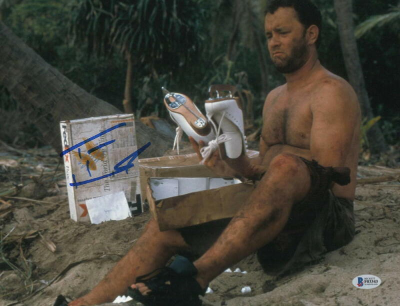 TOM HANKS SIGNED 11X14 PHOTO CAST AWAY AUTHENTIC AUTOGRAPH BECKETT COA C