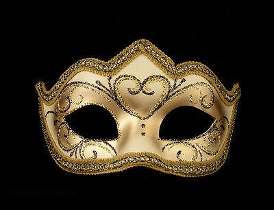 Mask Venetian Wolf Golden Colombine a Tip Hallmarked a Venice 1191 V62