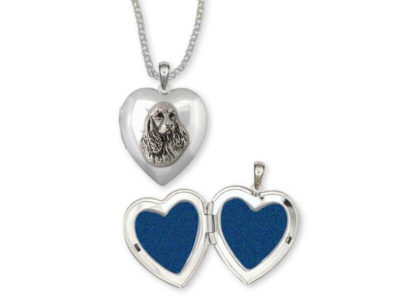 Springer Spaniel Photo Locket Jewelry Sterling Silver Handmade Dog Photo Locket