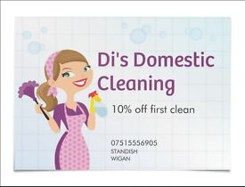 Di's Domestic cleaning,house cleaning services Weekly / fortnightly cleans One off cleans available