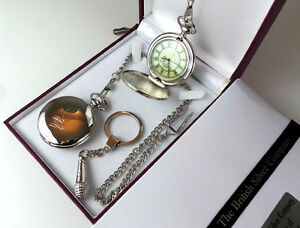 Morrissey Silver Signed Pocket Watch & Microphone Keyring Luxury Set The Smiths