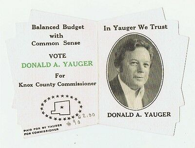 Vintage Donald Yauger Knox County Commissioner Ohio Political Campaign Brochure