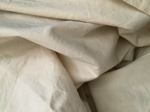 "Vintage French Linen Unused Cream Linen Metis fabric Yardage Unused 81"" wide"