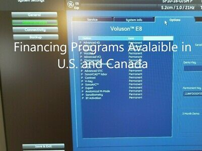Ge Voluson E8 Bt13 - 3d4d Imaging Refurbished By Ge 2018 With 4 Demo Probes