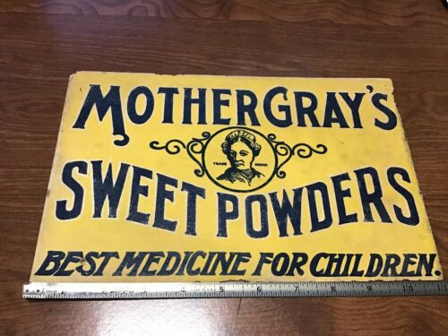Original Vintage - paper sign - MOTHER GRAY