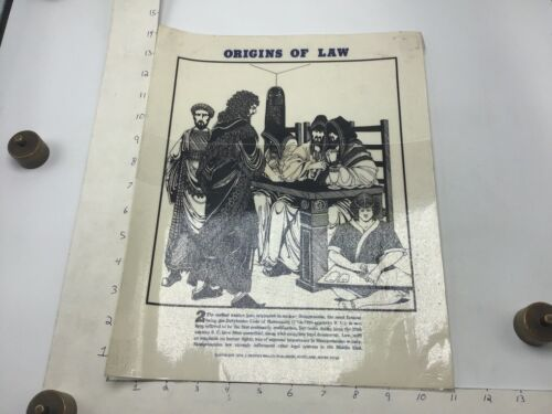 "Original 1974 Poster: ORIGINS OF LAW - HAMMURABI CODE - by J Weston Walch 11x14"""