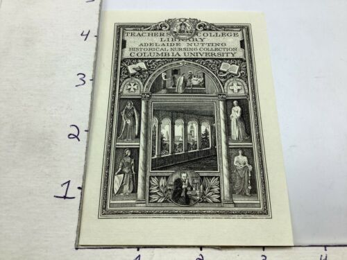 Original BOOKPLATE: COLUMBIA UNIVERSITY teachers college library