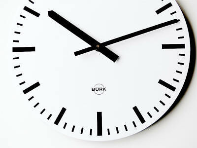Orig german BURK Industrial Clock Bauhaus wall design metal midcentury modernist