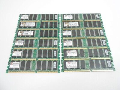 (12) Kingston 512MB DDR-400 Memory Ram PC3200 DIMM KVR400X64C3A 6GB (12x512MB), used for sale  Shipping to India