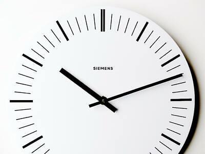 Original german SIEMENS Industrial Clock Bauhaus wall design metal midcentury