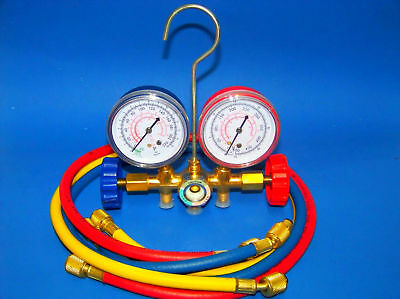 Manifold Gauges Set A/C HVAC Service Diagnostic air conditioning R12 R22 R502