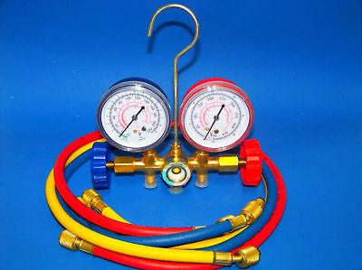 Air Conditioning Manifold Gauges Set Ac Hvac Service Diagnostic R12 R22 R502