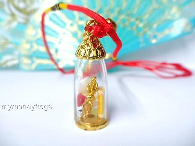 Wealth Protection Safety Amulet Feng Shui Cure LUCKY Chinese Necklace Quartz NEW
