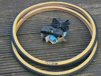Pair of new 26 x 1 3/8 tyres and inner tubes.