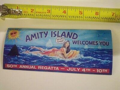 Vintage Looking  JAWS movie Amity Island  ** Refrigerator Magnet **