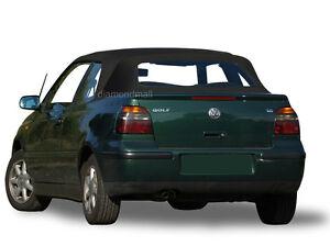 VW Volkswagen Golf Cabrio Cabriolet 1995-2001 Convertible Soft Top Black Vinyl