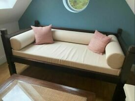 LOMBOK Keraton Teak Day Bed Sofa. COST £1.865 Single Bed. Conservatory, I Can Deliver Daybed