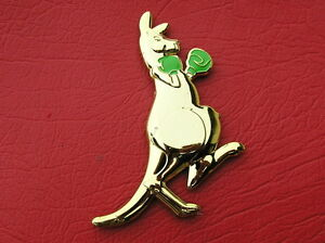 BOXING-KANGAROO-Gold-Plated-CAR-BADGE-Metal-Emblem-NEW-AUSTRALIA-AUSSIE