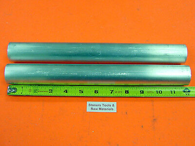 2 Pieces 1-12 Aluminum Round 6061 Rod 12 Long Solid T6511 Bar Stock New 1.50