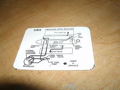 1985 Chevrolet Camaro Iroc Emissions Vacuum Hose Routing Decal Sticker