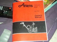 ariens serie 924 souffleuse manuel du propriétaire 1979 a 2005