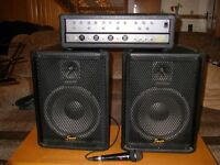 Fender squire PA amp and speakers