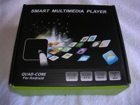 SMART MULTIMEDIA PLAYER. BOXED, AS NEW. NOT SURE IF IT WORKS