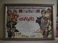 Original Framed Oliver! Movie Poster