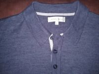 Nigel Hall Blue Long Sleeve Polo Top