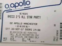 Tickets to the radio 2 50th birthday party