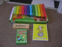 Xylophone, Dominos, Football Snap Cards & Jumbo Playing Cards
